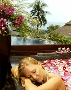 A relaxing floral bath & a panoramic view of Chalong Bay